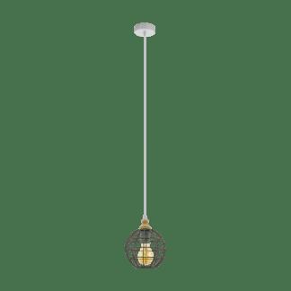 Κρεμαστό φωτιστικό 1xE27 Φ185mm σε γκρι χρώμα EGLO Itchington 33034