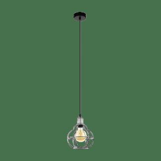 Κρεμαστό φωτιστικό 1xE27 Φ200mm σε χρώμα ασημί & μαύρο eglo wraxall 33022Κρεμαστό φωτιστικό 1xE27 Φ200mm σε χρώμα ασημί & μαύρο eglo wraxall 33022
