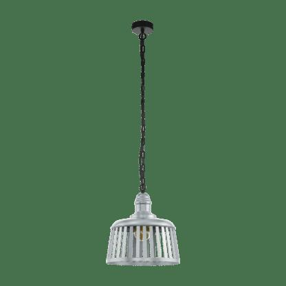 Κρεμαστό φωτιστικό 1xE27 Φ340mm σε μαύρο-ασημί χρώμα Eglo Wraxall 1 33025