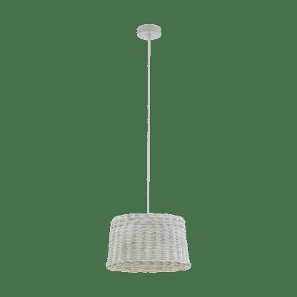 Κρεμαστό φωτιστικό 1xE27 Φ360mm σε λευκό-antique χρώμα Eglo Dovenby 33049