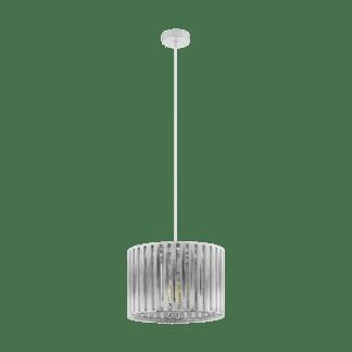 Κρεμαστό φωτιστικό 1xE27 Φ370mm σε λευκό-πατίνα χρώμα Eglo Kinross 1 33044