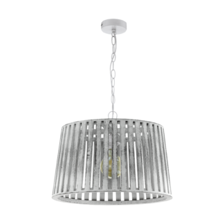 Κρεμαστό φωτιστικό 1xE27 Φ470mm σε λευκό-πατίνα χρώμα Eglo Kinross 1 33045