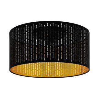 Πλαφονιέρα Varillas Φ47 E27 μαύρο & χρυσό 98311
