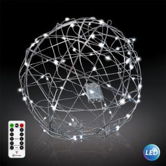Φωτιζόμενη LED Μπάλα Φ30cm σε ψυχρό φως με μπαταρία με τηλεχειριστήριο με 8 λειτουργίες 27-00285