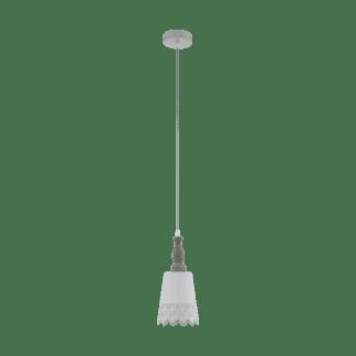 Φωτιστικό κρεμαστό Μονόφωτο 1xE27 Φ145mm σε χρώμα γκρι & λευκό EGLO Tablot 33039