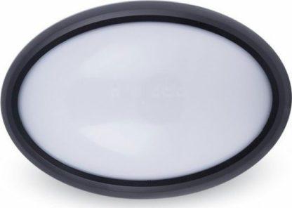 LED πλαφονιερα/απλίκα 8W Οβάλ 3000K Θερμό λευκό Μαύρο σώμα V-TAC 1267