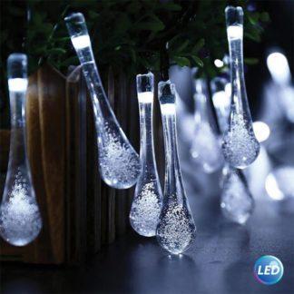 20 LED διακοσμητικά φωτάκια σταγόνα 4,40m σε ψυχρό φώς 220-240V 27-00357