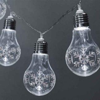 20 LED λάμπες διακοσμητική γιρλάντα 3m σε ψυχρό φως με μπαταρία & χρονοδιακόπτη 27-00443