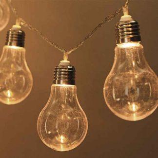 20 LED λάμπες διακοσμητική γιρλάντα 3m σε θερμό φως με μπαταρία & χρονοδιακόπτη 27-00442
