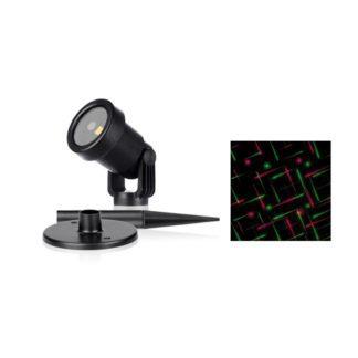 LED προτζέκτορας με χρονοδιακόπτη IP65 με κόκκινο/πράσινο χριστουγεννιάτικο μοτίβο FOSME 27-00904
