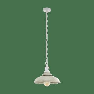 Κρεμαστό φωτιστικό 1xE27 Φ360mm σε γκρί-λευκό χρώμα Eglo Bridport 33012