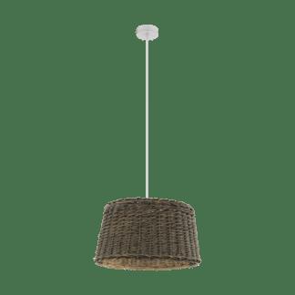 Κρεμαστό φωτιστικό 1xE27 Φ510mm σε καφέ χρώμα Eglo Dovenby 33048
