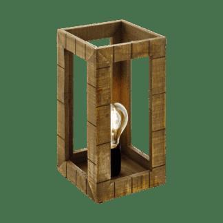 Επιτραπέζιο φωτιστικό 1xE27 σε χρώμα μαύρο/καφέ EGLO Takhira 43016