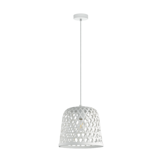 Κρεμαστό φωτιστικό Φ300mm E27 σε νίκελ λευκό χρώμα Kirkcolm EGLO 43111