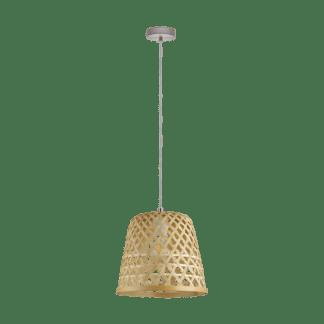 Κρεμαστό φωτιστικό Φ300mm E27 σε νίκελ ματ/καφέ χρώμα Kirkcolm EGLO 43113