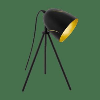 Επιδαπέδιο φωτιστικό VINTAGE , 51cm , 1xE27 σε μαύρο /χρυσό EGLO hunningham 43007