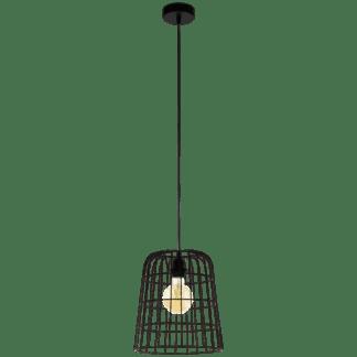 Kρεμαστό φωτιστικό Φ270 1XE27 σε μαύρο χρώμα eglo longburgh 33018