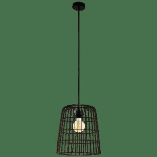 Kρεμαστό φωτιστικό Φ355 1XE27 σε μαύρο χρώμα eglo longburgh 33019