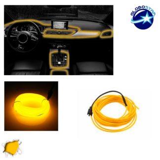Εύκαμπτο φωτιζόμενο καλώδιο Neon Κίτρινο GloboStar 08008