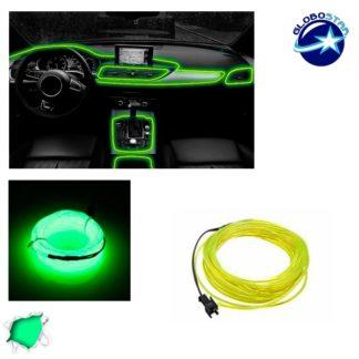 Εύκαμπτο φωτιζόμενο καλώδιο Neon Πράσινο Φωσφορούχο GloboStar 08002