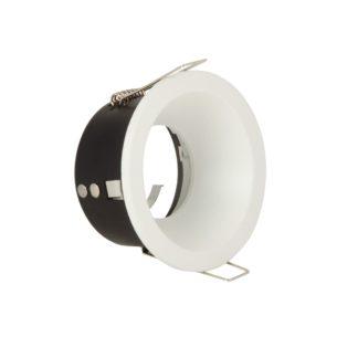 Σπότ Αλουμινίου Στρογγυλό Σταθερό Αδιάβροχο Λευκό Χρώμα VK 64173-034121