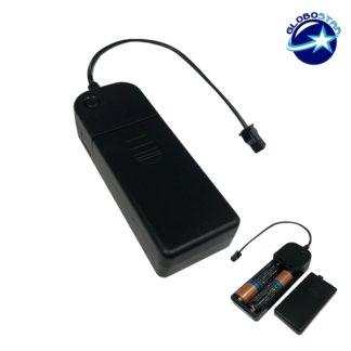 Φορητός Ελεγκτής Τροφοδοσίας για Μπαταρίες 2xΑΑ GloboStar 08011