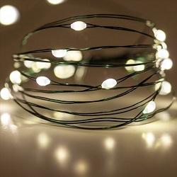 Φωτάκια σε πράσινο συρμα 100 LEDs σε θερμό φως με τροφοδοτικό & Controller με 8 λειτουργίες 27-00217