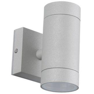 Φωτιστικό Αλουμινίου Τοίχου IP54 διπλής κατεύθυνσης (2xGU10) D65x145mm Γκρί Χρώμα vk 75169-187997