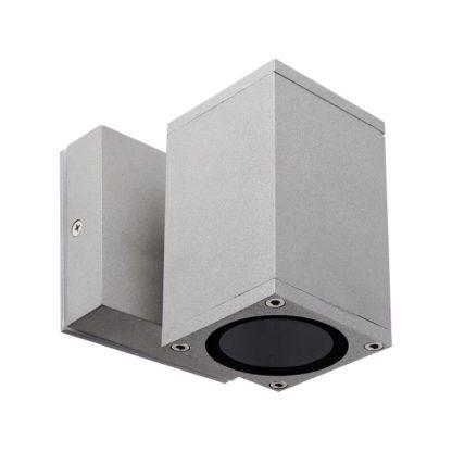 Φωτιστικό Αλουμινίου Τοίχου IP54 μονής κατεύθυνσης για λάμπες GU10 60x108x60+45mm Γκρί Χρώμα VK 75169-219997