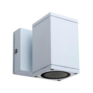 Φωτιστικό Αλουμινίου Τοίχου IP54 μονής κατεύθυνσης για λάμπες GU10 60x108x60+45mm Λευκό Χρώμα VK 75169-216997
