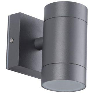 Φωτιστικό Αλουμινίου Τοίχου IP54 GU10 D65x118mm Ανθρακί Χρώμα VK 75169-182997