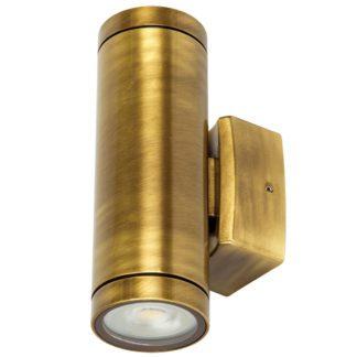Φωτιστικό Ορειχάλκινο Τοίχου IP65 διπλής κατεύθυνσης (up-down 2xGU10 ) D60x180mm Μπρονζέ Χρώμα VK 74168-199677