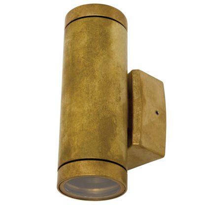 Φωτιστικό Ορειχάλκινο Τοίχου IP65 διπλής κατεύθυνσης (up-down 2xGU10 ) D60x180mm Ορειχάλκινο Χρώμα VK 74168-156677
