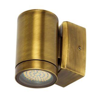 Φωτιστικό Ορειχάλκινο Τοίχου IP65 GU10 D60x100mm Μπρονζέ Χρώμα VK 74168-202677