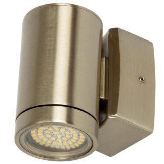Φωτιστικό Ορειχάλκινο Τοίχου IP65 GU10 D60x100mm Νίκελ Μάτ VK 74168-201677
