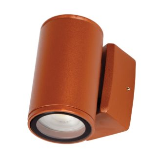 Φωτιστικό Ορειχάλκινο Τοίχου IP65 GU10 D60x100mm Ορειχάλκινο Κεραμυδι Χρώμα VK 74168-225677
