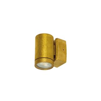 Φωτιστικό Ορειχάλκινο Τοίχου IP65 GU10 D60x100mm Ορειχάλκινο Χρώμα VK 74168-158677