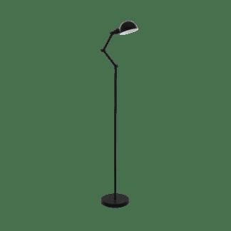 Επιδαπέδιο φωτιστικό μονόφωτο 1xE27 σε μαύρο χρώμα Eglo Exmoor 49042