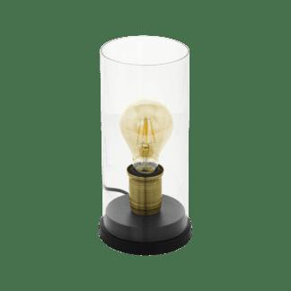 Επιτραπέζιο φωτιστικό μονόφωτο Φ120mm 1x E27 μεταλλικό με γυαλί Eglo SMYRTON 43105