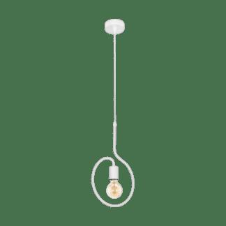 Κρεμαστό φωτιστικό μονόφωτο σε λευκό χρώμα Eglo Cottingham 43014