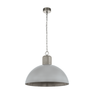 Κρεμαστό φωτιστικό μονόφωτο 1x E27 Ø53cm σε γκρι χρώμα Eglo COLDRIDGE 49105