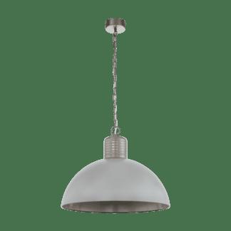 Κρεμαστό φωτιστικό μονόφωτο 1x E27 Ø65cm σε γκρι χρώμα Eglo COLDRIDGE 49757