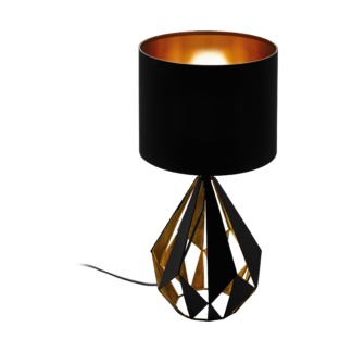 Πορτατίφ σε μαύρο χρώμα με χαλκό Φ250mm E27 Eglo Carlton 5 43077