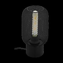 Φωτιστικό επιτραπέζιο μονόφωτο σε μαύρο χρώμα Eglo Wrington 43096