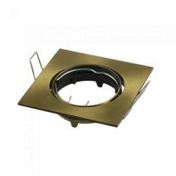 Χωνευτό φωτιστικό Spot GU10, τετράγωνο χρυσό σώμα vtac 8581