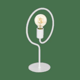 Επιτραπέζιο φωτιστικό μονόφωτο λευκό χρώμα 1x 40W Eglo COTTINGHAM 43012