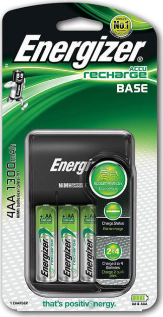 Φορτιστής Μπαταριών Energizer για AA/AAA με 4 ΑΑ Μπαταρίες 1300mAh και LED Ένδειξη Φόρτισης F016546X