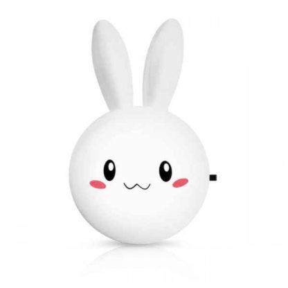 LED Φωτιστικό mini Νυκτός Κουνέλι Λευκό