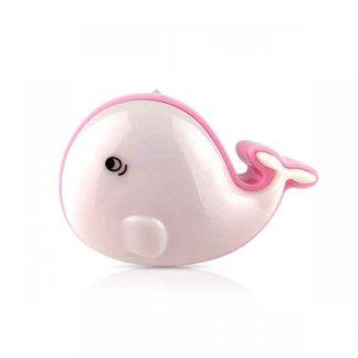 LED Φωτιστικό mini Νυκτός Φάλαινα Ροζ