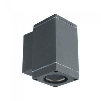 LED επιτοίχιο φωτιστικό GU10, τετράγωνο γκρί σώμα 63x99x112mm (Downlight) vtac 8626